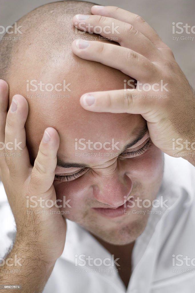 Head Pain royalty-free stock photo