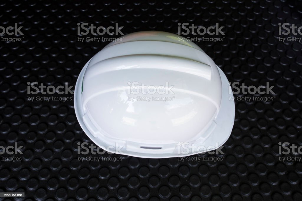 Head Protection on blackgroung black foto stock royalty-free