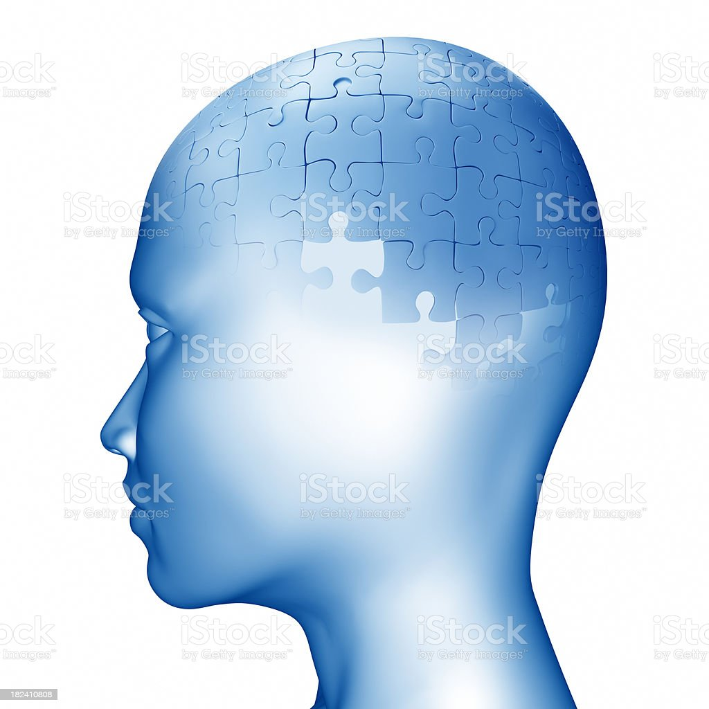 Head puzzle - Clipping path included royalty-free stock photo