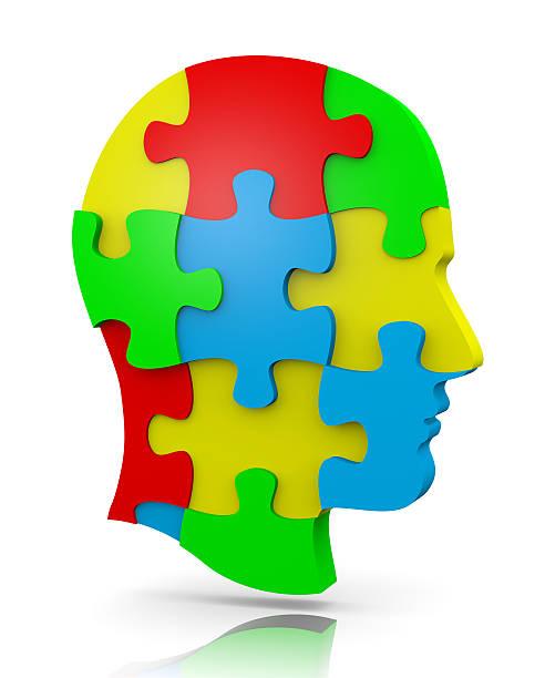 Head Puzzle stock photo