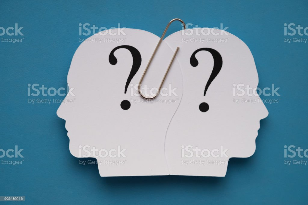 Head shape from paper stock photo