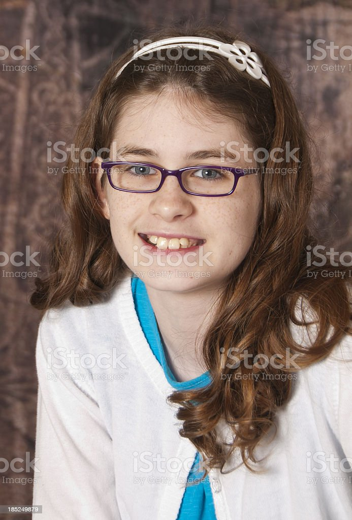 Head Shot of a Sweet Young Girl royalty-free stock photo