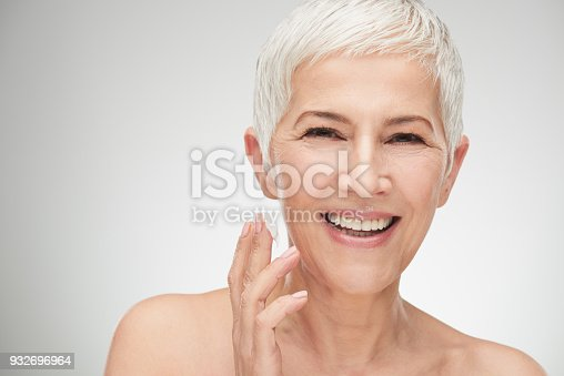istock Head shot of beautiful senior woman 932696964