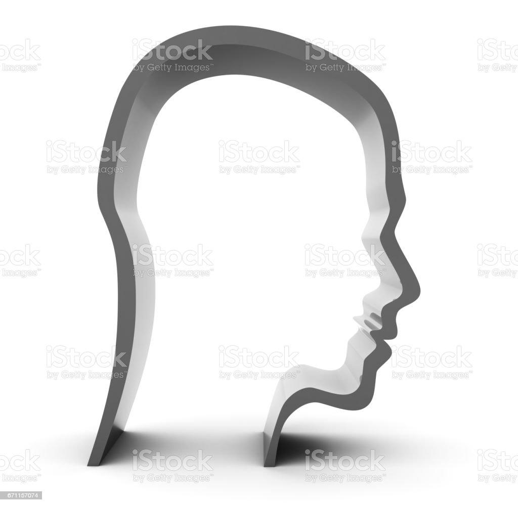 head silhouette stock photo