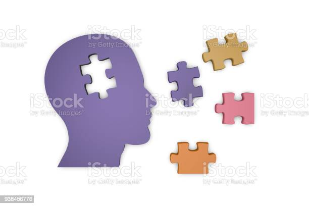 Head silhouette with jigsaw puzzle pieces picture id938456776?b=1&k=6&m=938456776&s=612x612&h=lrh9wiihk0imarooc99lfb6t9gpxxpbn5oymchaw1oa=