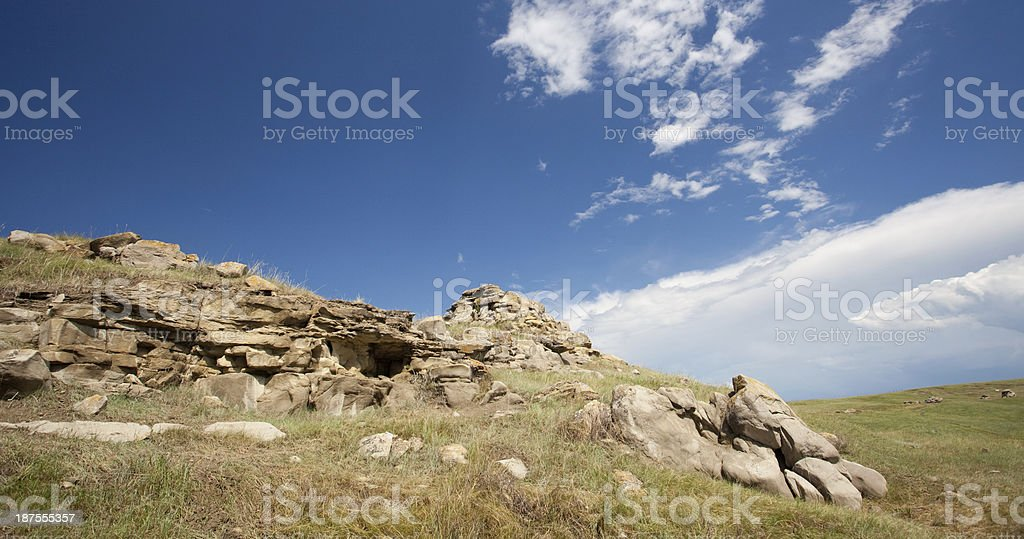 Head Smashed In Buffalo Jump royalty-free stock photo