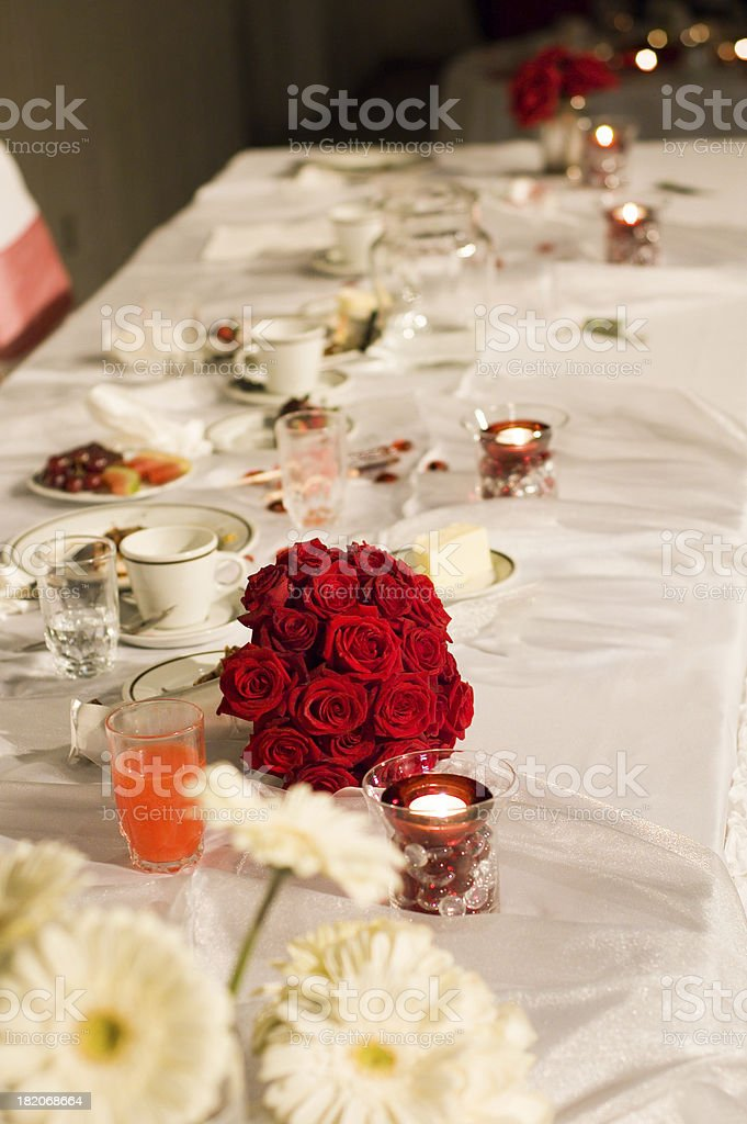 Head Table stock photo