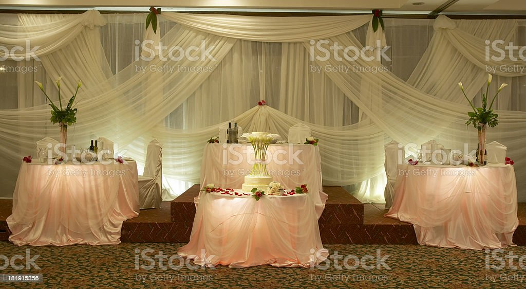 Head Table with Dessert Cake royalty-free stock photo
