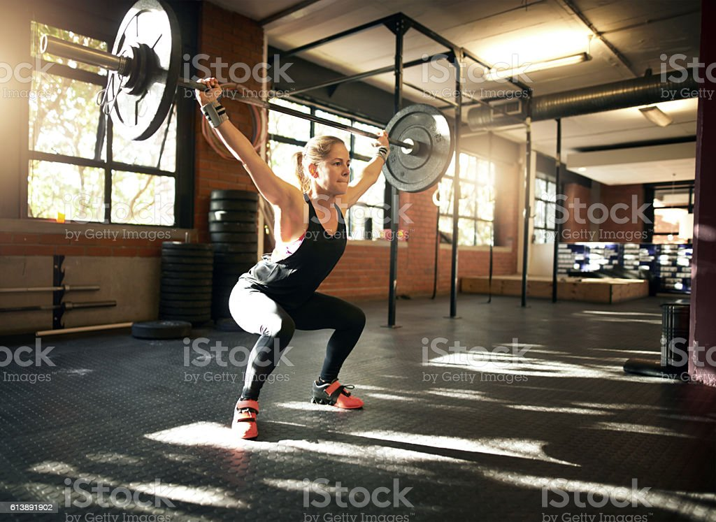 Head to toe strength with one lift stock photo