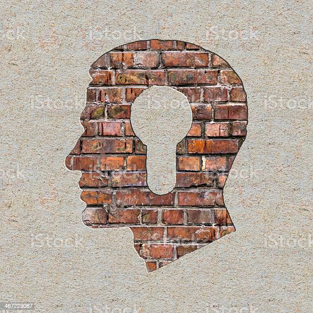 Fahren Sie Mit Einem Keyholesymbol An Der Wand Stockfoto und mehr Bilder von Akademisches Lernen