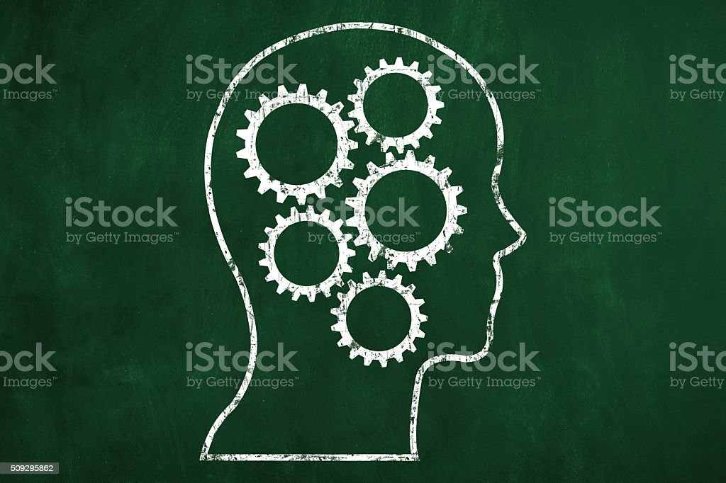 Head With Gears stock photo