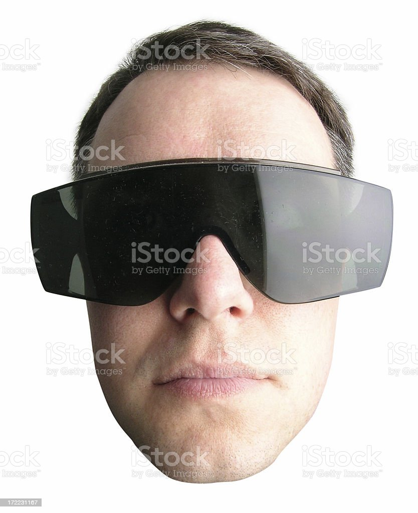 Head with glasses royalty-free stock photo