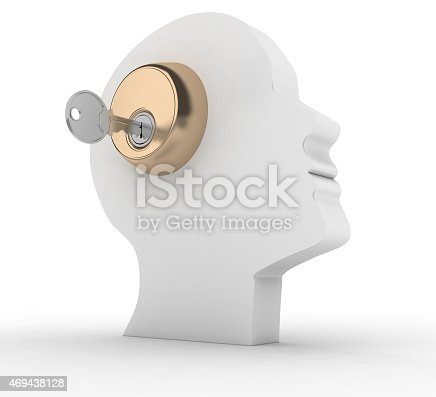 istock Head with key. 469438128