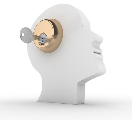 istock Head with key. 469438128