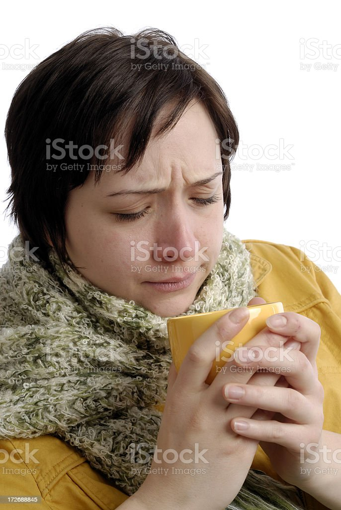 Headache and cold royalty-free stock photo