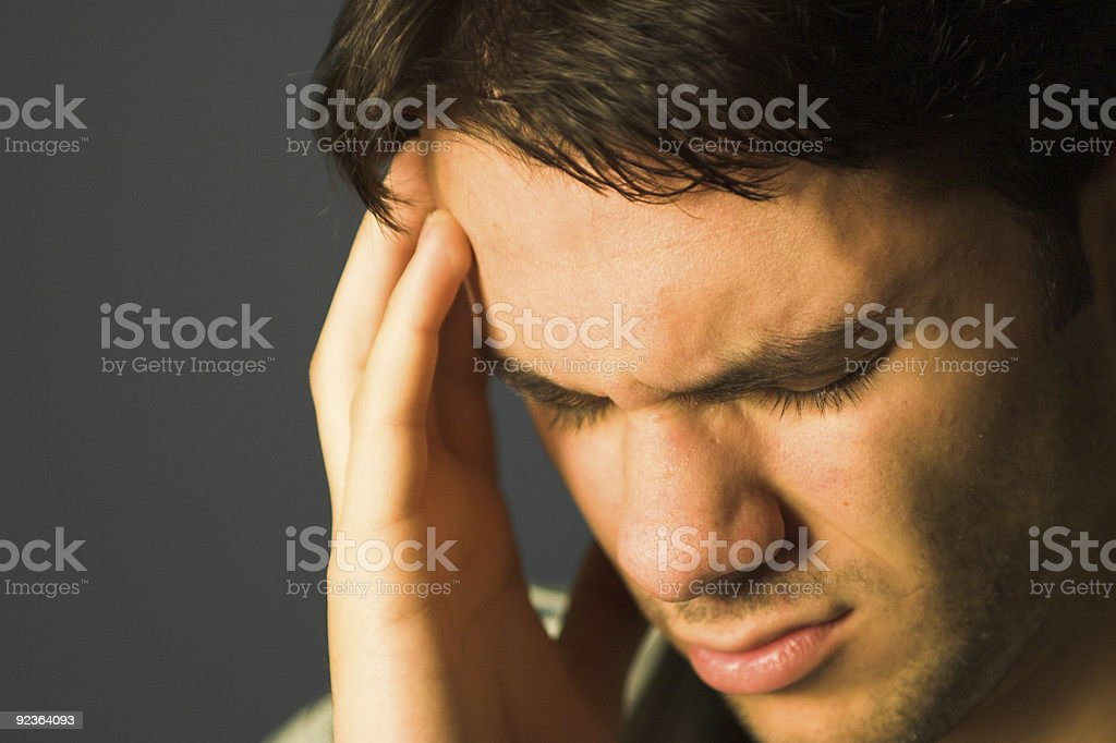 Headache - Crying royalty-free stock photo