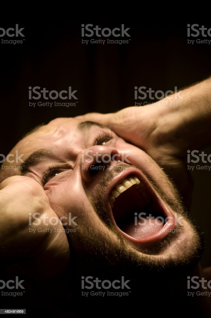 Headache, prisoned or sleepless   ( XL ) royalty-free stock photo
