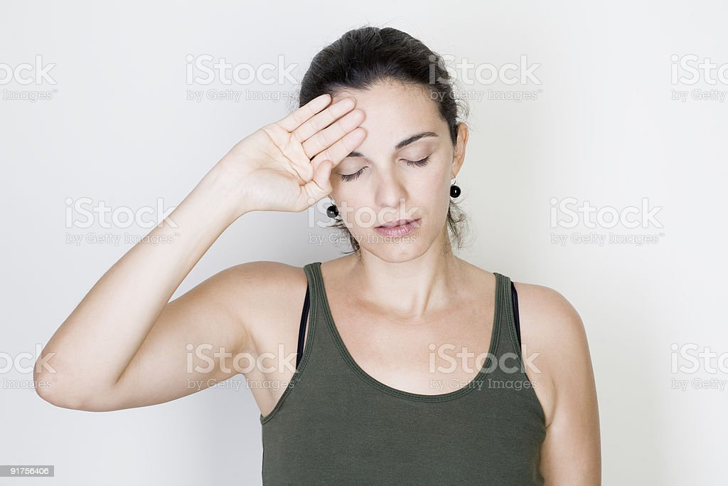 headache woman royalty-free stock photo