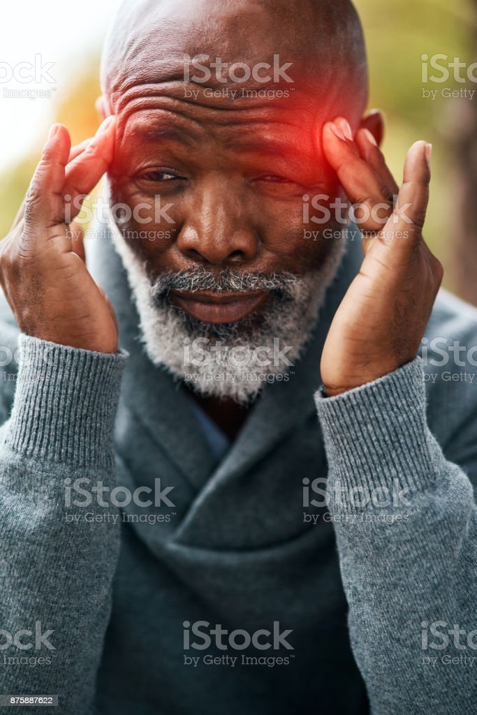 Headaches are the worse stock photo