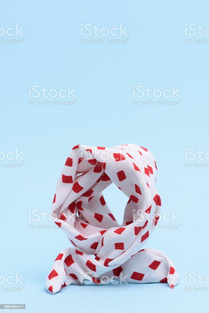 Açık mavi renkli izole bir kafa bandı. stok fotoğrafı