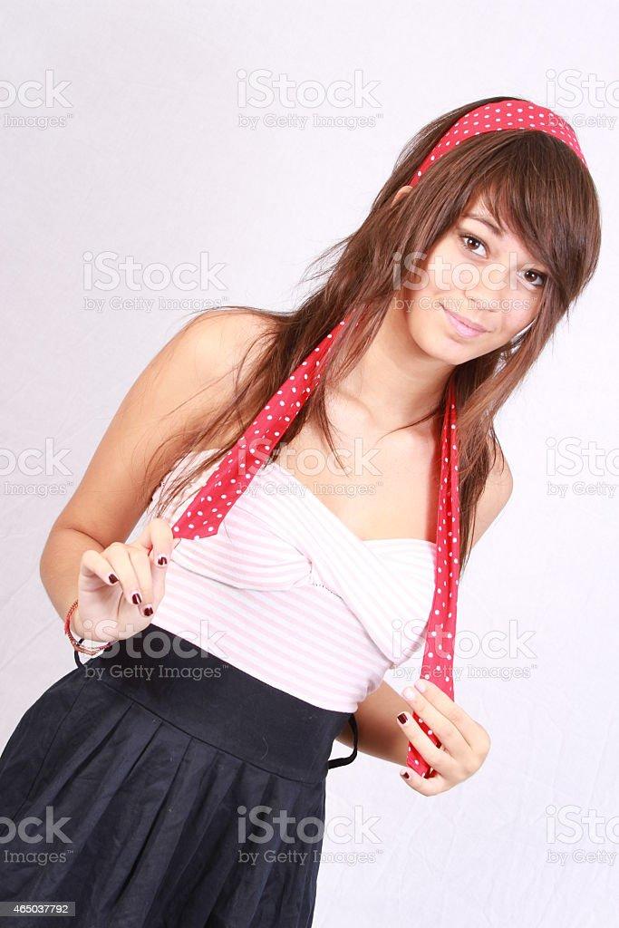 headband red stock photo