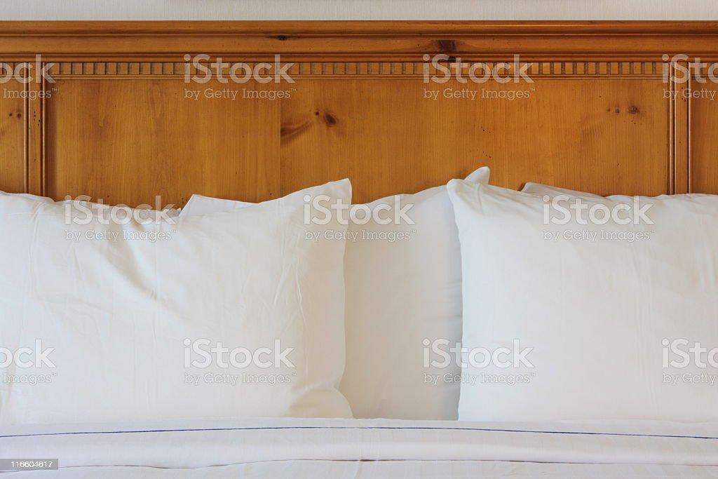 Headboard Pillows Bedroom Bed Bedding stock photo