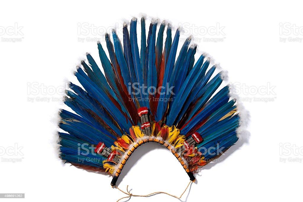 headdress indigenous stock photo