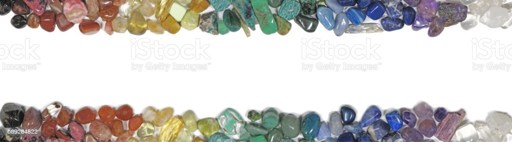 Header and Footer of Chakra Crystals stock photo