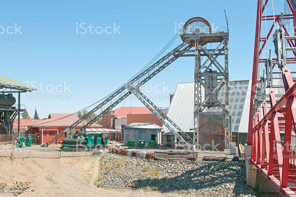 Headframe at Big Hole, Kimberley stock photo