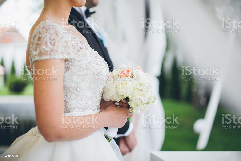 Heading for the altar! stock photo