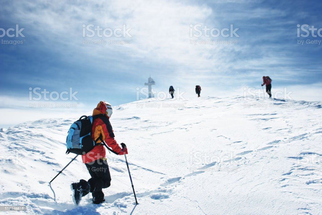 heading for the summit royalty-free stock photo