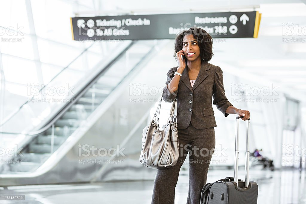 Heading out for an international conference royalty-free stock photo