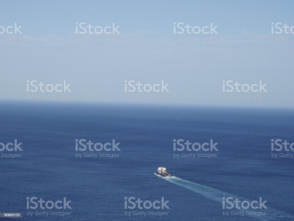 Heading out to sea royalty-free stock photo