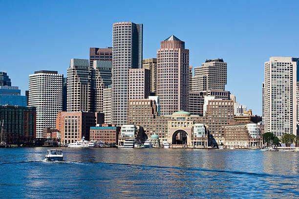 Heading to Boston stock photo
