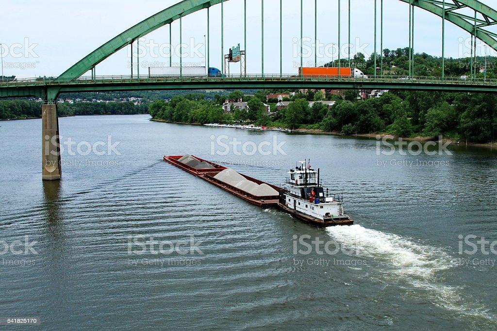 Heading up the Ohio stock photo