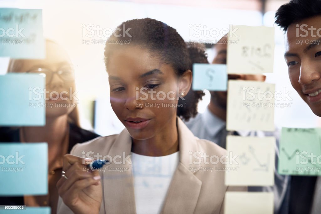 Heading up the strategy meeting royalty-free stock photo