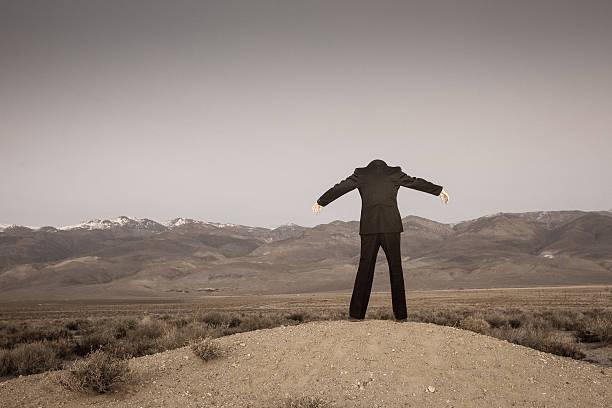 Headless Man stock photo