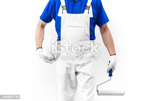 589454570 istock photo Headless shot of painter man at work with paintroller 494667140