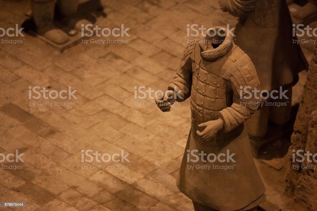 Headless Terracotta Warriors close up stock photo