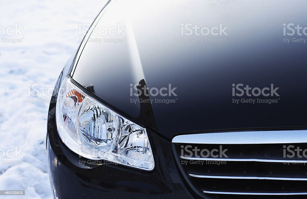 Headlight. Detail  of automobile stock photo