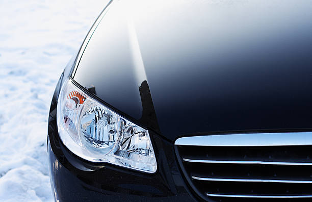 Headlight. Detail  of automobile Headlight. Detail  of automobile vehicle hood stock pictures, royalty-free photos & images