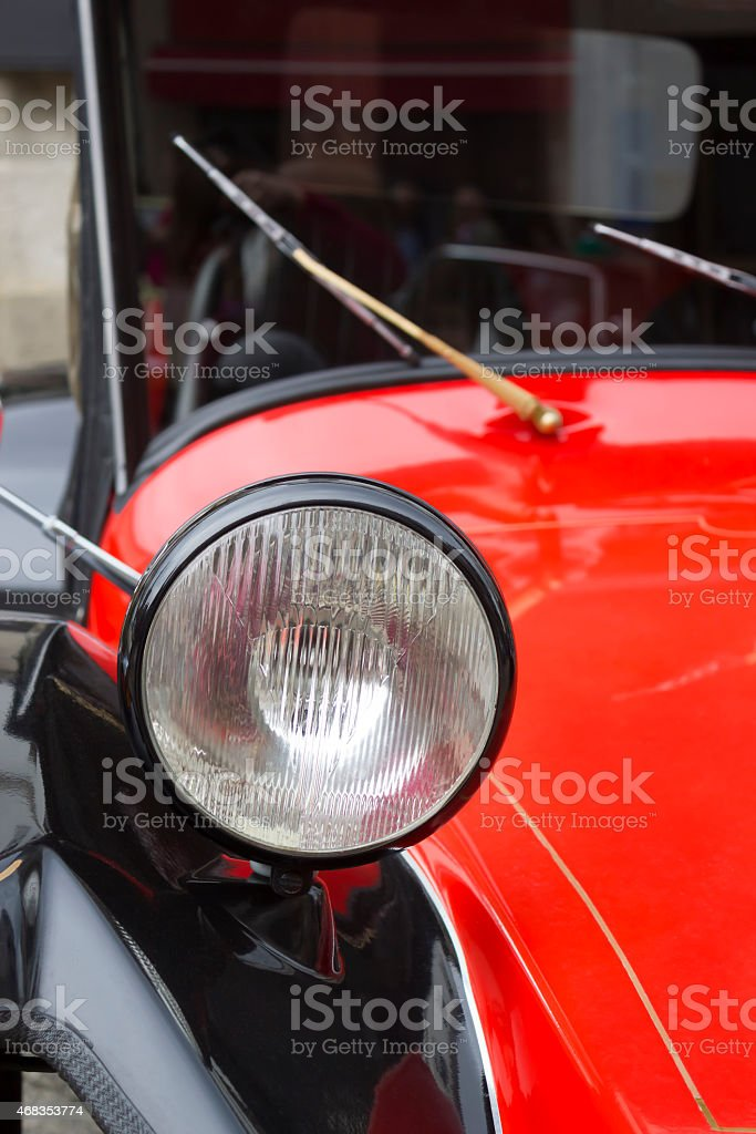 Headlight of an old car royalty-free stock photo