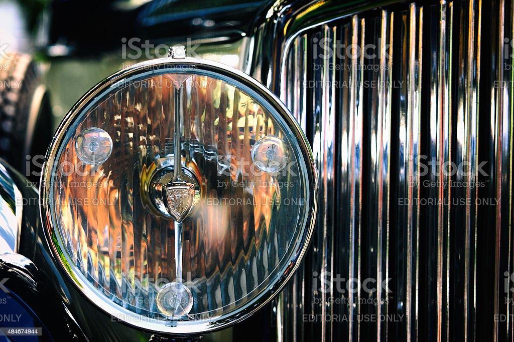 Headlight Of An Old Rolls Royce Car Collectors Car Stock Photo ...