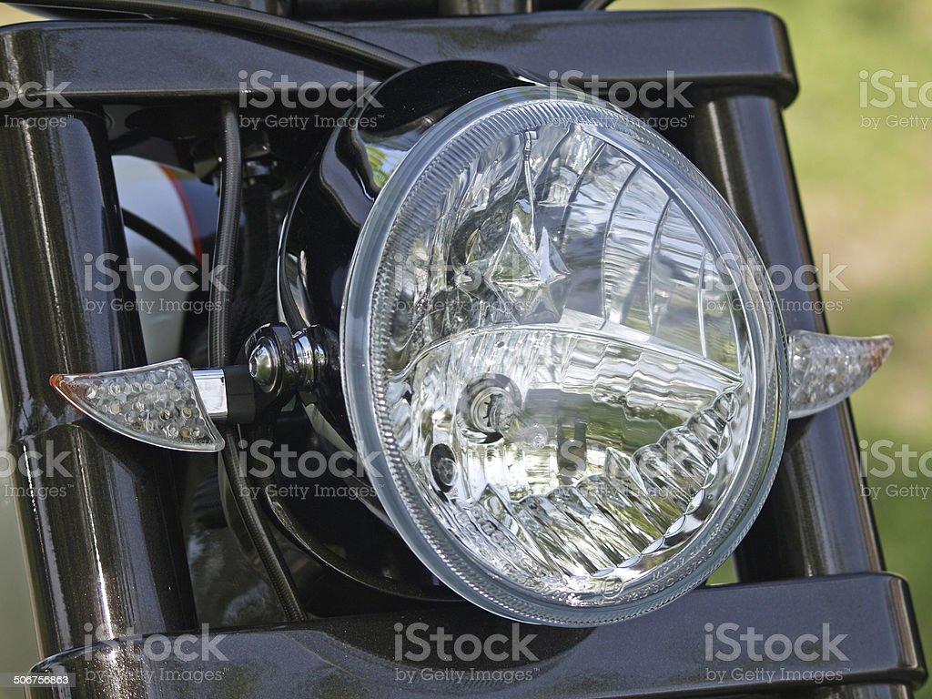 headlight of motorcycle royalty-free stock photo