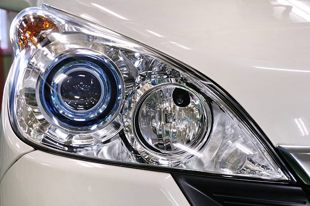 Headlight of the car It is the headlight of a car made in Japan. headlight stock pictures, royalty-free photos & images