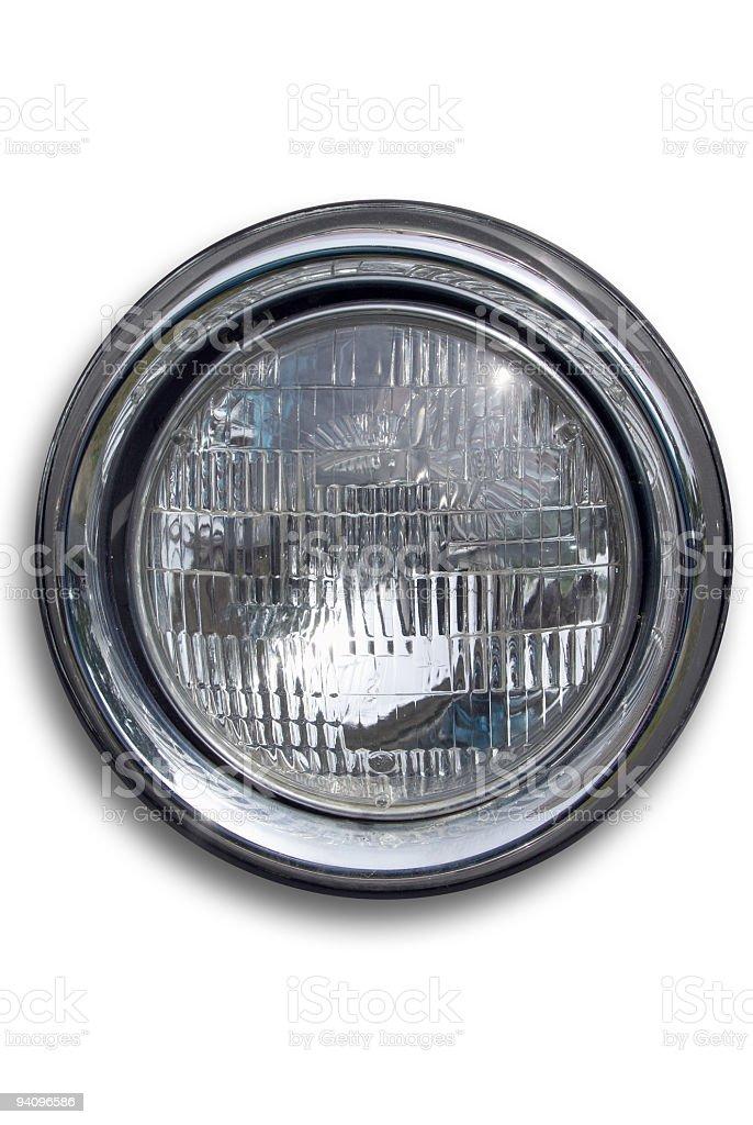 Headlight Off - isolated on white stock photo