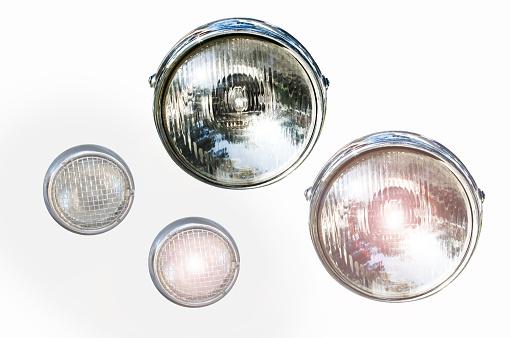 Headlight on isolated backgrounds