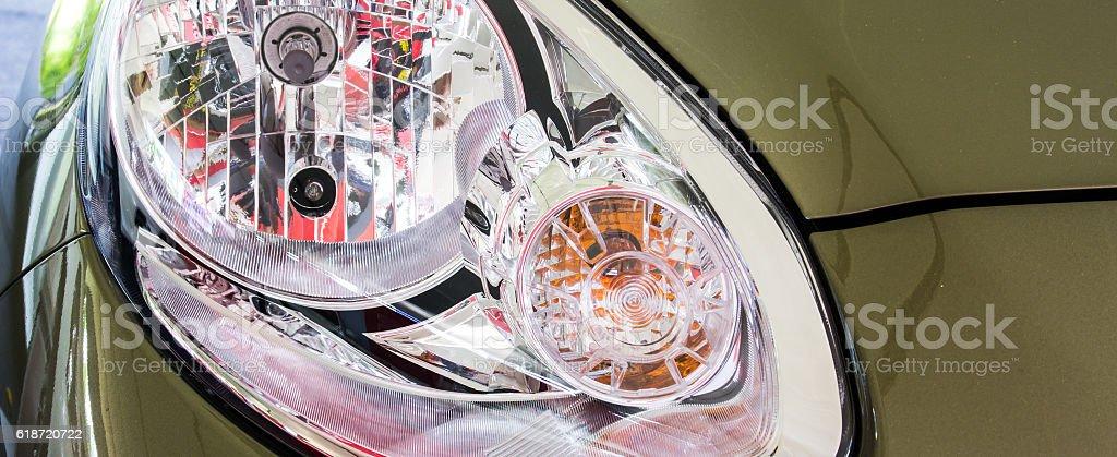 headlights stock photo