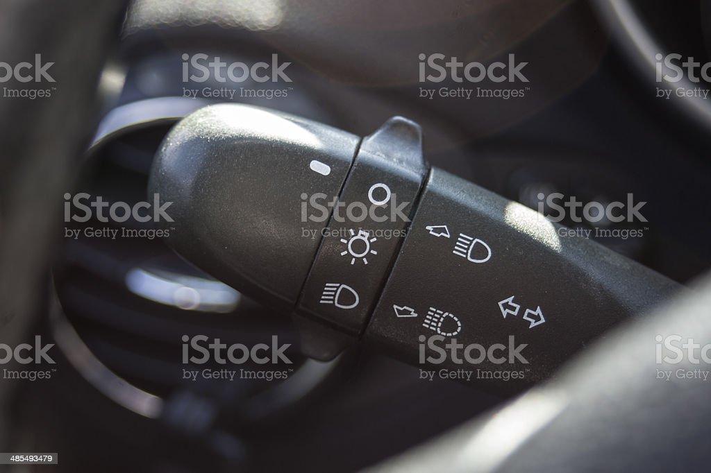 Headlightsm turn signal Control Stick stock photo