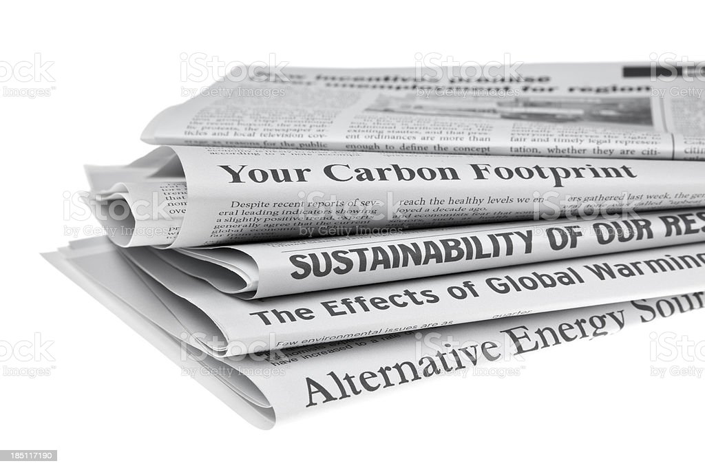 Headlines About Environmental Issues royalty-free stock photo